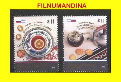 Argentine,argentina 2016 Russia Joint Issue Traditions Mnh