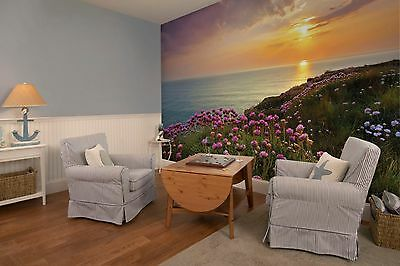 Wall Mural Photo Wallpaper LAND'S END SEA SKY SUN Living Room Decor 368x254cm