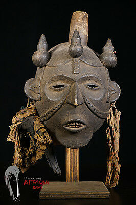 Cross River Mask Nigeria with Custom Mount African Tribal Art