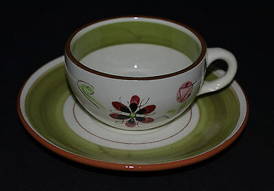 Stangl Pottery Carnival Pattern Cup With Saucer