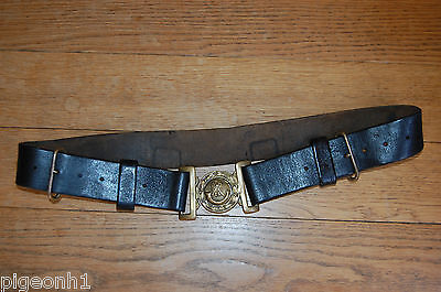 Rifle Brigade Corps Senior NCOs Black Leather Belt with Brass Fittings.