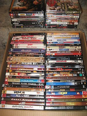 huge lot 73 DVD's movies music various genres horror/comedy/action/concert