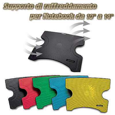 Supporto Raffreddamento Notebook Con Ventola Dissipatore 2 Usb Pc Laptop Base