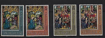 U76) x4 TIMBRES stamps (Neuf**MNH TBE) ANTIGUA (Christmas 1969)