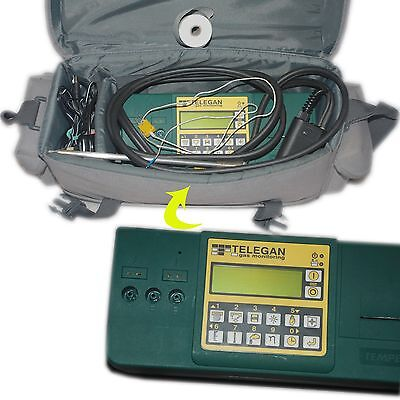 Telegan Gas Monitoring Tempest Analyser Detector + Grey Case - Out calibration