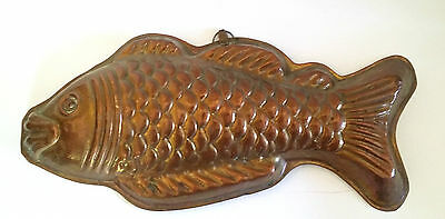 Kupfer Backform Fisch  Kupferform Terrinenform Puddingform 40 cm  ★ top