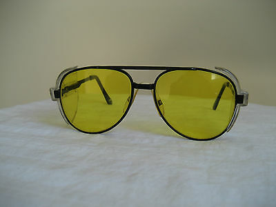 Vintage Yellow Tint Arkon Z87 Safety Glasses 146Mm