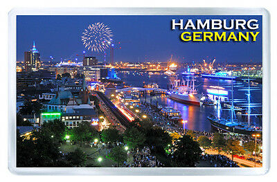 Hamburg Germany Mod4 Fridge Magnet Souvenir Iman Nevera