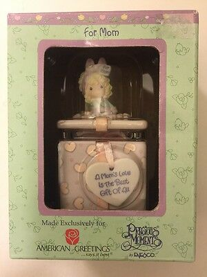 American Greetings For Mom Precious Moments Covered Box With Two Sided Lid