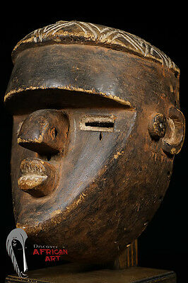 Discover African Art High-Quality Lwalwa Mfondo Mask