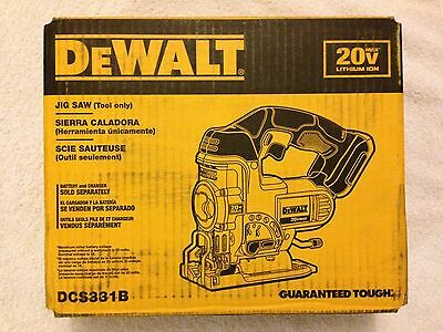 New Dewalt DCS331B 20 Volt 20V Max Variable Speed Jig Saw New in The Box W Blade