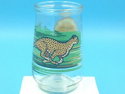 1995 Welch's Jelly / Jam Glass - WWF Endangered Species - Cheetah #4