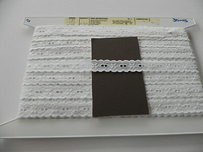 Card of New Lace - White Broiderie Anglaise (A)
