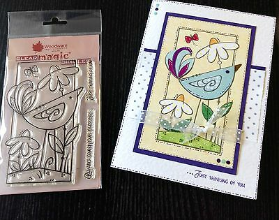 Woodware Clear Stamp Daisy Bird FRS281