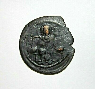 Byzantine, Bronze  Follis. Constantine Ix 1042-1055 Ad. Jesus King Of Kings.
