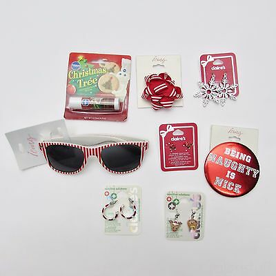 Claire's & Icing Girl Jewelry Lot Xmas Accessories - Earrings, Pins, Sunglasses