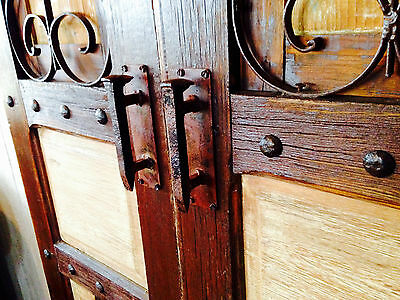 Rustic Rail Spike Barn Gate Cabinet Handles hand made unique