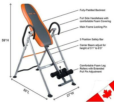 Inversion Therapy Hanging Anti Gravity Table Rest Health Back Pain Relief New