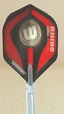 Winmau Rhino Plus Red W Standard Dart Flights
