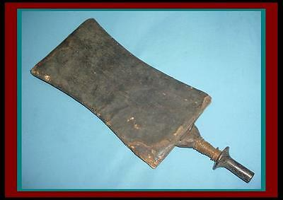 AUTHENTIC African CONGO Mongo DAGGER Short Sword w/ Leather Covered Wood  Sheath