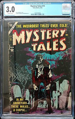 Mystery Tales 1954 #19 Cgc 3.0 Off White Hot! Incredible H.anderson Zombie Cover