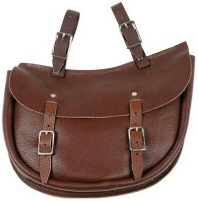 Toowoomba Saddlery Australian Made Economy Leather Oval Saddle Bag