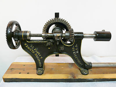 Vintage Champion Blower & Forge Co No 106 Post Mount Hand Crank Drill Press INV