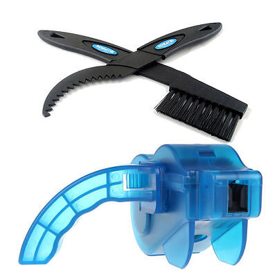 3D Cycling Bicycle MTB Bike Chain Cleaner Wash Cleanning Tool Flywheel Brush AU