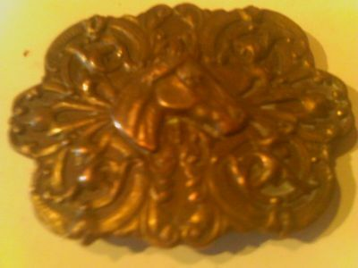Collectable! Brass Belt Buckle With Stallion!, Found While using metal Detector!