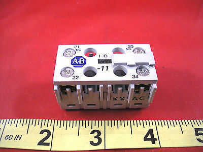 Allen Bradley 195-MB11 Ser A Auxiliary Contact Block Aux Switch 1 NO NC New Nnb