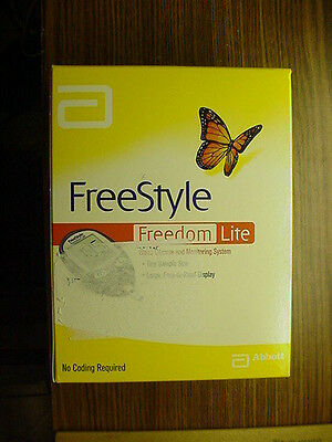 Freestyle Freedom Lite Blood Glucose Monitor Monitoring System Brand New Sealed