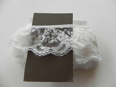 Card of New Gathered Lace - White