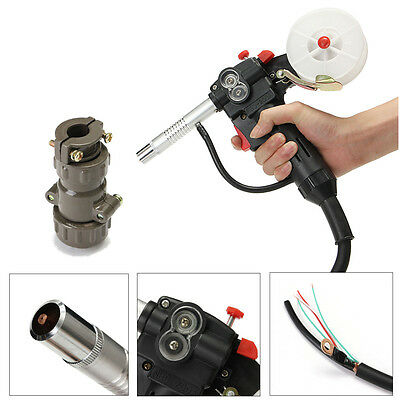16 Feet Toothed Roller Nylon Body MIG Spool Gun Wire Feed Aluminum Welding Torch
