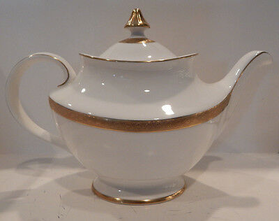 "Royal Doulton ""royal Gold"" Teapot With Lid Made England H4980"