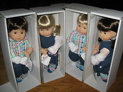 BITTY TWINS twin American Girl Boy Blond Brown Hair Blue Eyes Doll 2B 2G 3B 3G
