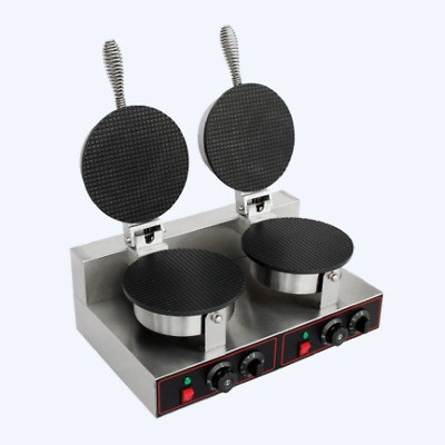 MT8 Commercial Ice Cream Cone Machine Electric Waffle Maker Dual Baker 110V 220V