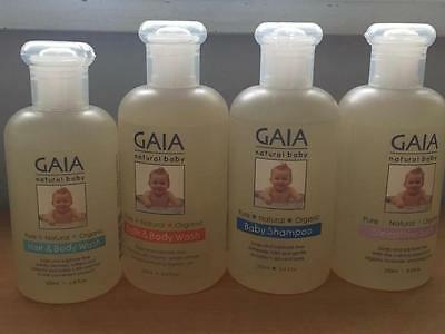 GAIA Natural Baby 5 choices Hair body wash, shampoo Soap & Sulphate free