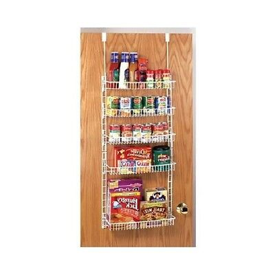Over The Door Spice Rack Shelf Can Organizer Wire Hanging Pantry Food Basket NEW