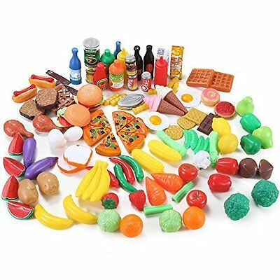Food Groups Deluxe Pretend Toy Kids Play Set Fruits 120 Piece Assortment Variety