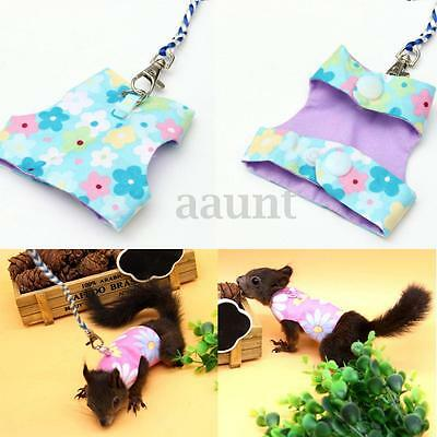 Adjustable Hamster Rabbit Squirrel Harness Leash Lead Small Pet Animal Vest Suit