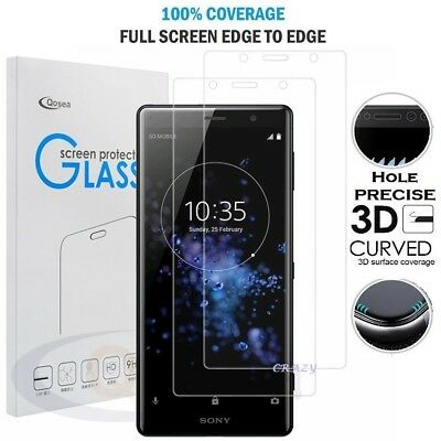 3D Curved Full Coverage Tempered Glass Screen Protector For Sony Xperia XZ X XA