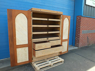 Marquetry Linen Press Armoire 19th Century Charles Bevan Drawers Cupboard
