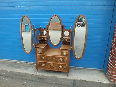 Dressing Table Bedroom Dresser 19th Century Winged Mirror Dressing Table