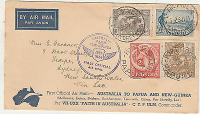 Australia Papua New Guinea 1934 First Official Airmail Cover