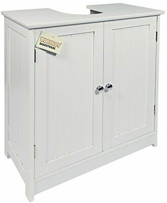 Woodluv Under Sink Bathroom Storage Cabinet, White