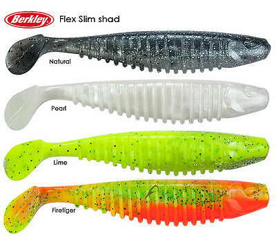Artificiale Berkley Flex Slim Shad Soft Spinning Spigola Bass Trota 15cm CSP