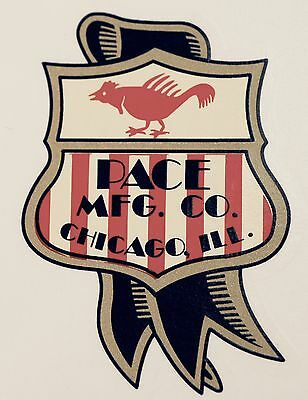 Pace Mfg. Co Shield Logo, Slot Machine, Coinop, Water Slide Decal # Ds 1016