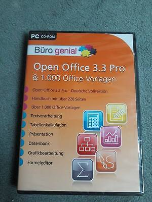 Open Office 3.3 Pro & 1000 Office-Vorlagen - NEU & OVP !!!
