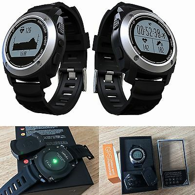 Waterproof Outdoor Sport Bluetooth GPS Smart Watch Heart Rate Temperatur Monitor