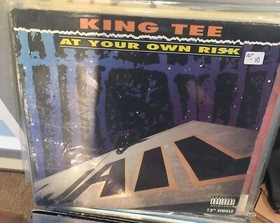 "King Tee ‎– At Your Own Risk (12"") 1990 Marley Marl , DJ Pooh. US. OG."